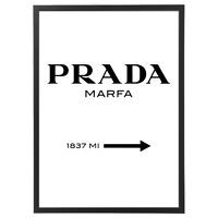 Quadro Prada Marfa con Cornice - Verticale - varie dimensioni vari colori b
