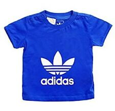 Chicos Camiseta Adidas Originales Grandes Logo Trébol Chicas Bebé Infantes Camiseta Top