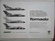 3/1976 PUB PANAVIA TORNADO MRCA AERITALIA BRITISH AIRCRAFT MBB PVA20 FRENCH AD