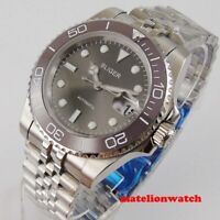 40mm Bliger Automatic NH35 Movement Men's Watch Gray Dial Jubilee Date luminous