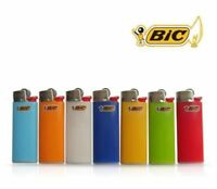 3x Bic Mini Gas Cigarette Lighter Genuine Assorted Solid Colours - New