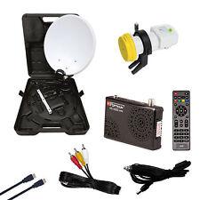 Camping Suitcase Set Full HD Easyfind Satellite finder Opticum HD X300 Receiver