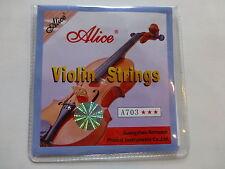 Violon cordes 4/4, qualité ton by Alice, Bonne Emballage, VENDEUR britannique