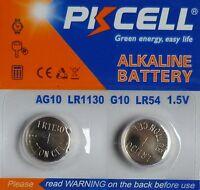 2 PILES LR1130 / AG10 / LR54 / 189 / 1,5V / ENVOI RAPIDE
