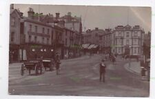 OLD POSTCARD COMMERCIAL ROAD BOURNEMOUTH REAL PHOTO VINTAGE 1905-10