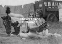 1933 FRIENDLY BARNES CIRCUS GIRLS & HORSE OAKLAND CALIFORNIA PHOTO GAY INTEREST