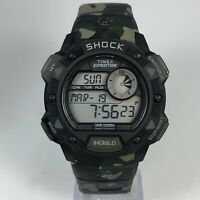 Timex Mens Shock Expedition Indiglo Multifunction Camo Chronograph Digital Watch