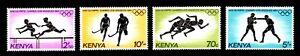 Olympic Kenya 1984 set of stamps Mi#292-95 MNH CV=9€