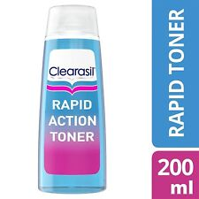 3x Clearasil Ultra Rapid Action Deep Pore Treatment Toner Cleanser 200ml