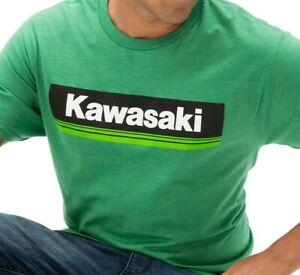 NEW MENS KAWASAKI 3 GREEN LINES T-SHIRT, GREEN, SIZE SMALL, K000-2578-GNSM