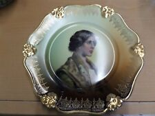 R C ROSENTHAL BAVARIA PENSEE,  PORTRAIT PLATE OF A GIRL GOLD TRIM 8.5""