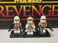 Captain CODY NEW 212th custom assault lot 3 minifigures clone trooper Star Wars