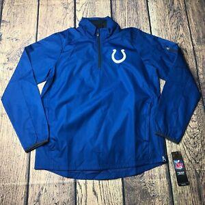 NFL Youth Boys Medium 10/12 Indianapolis Colts 1/4 Zip Windbreaker Jacket NEW