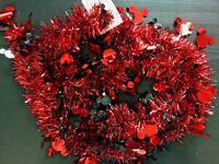 DISNEY 2M * MICKEY MOUSE * Weihnachts Girlande Christbaum Weihnachten Advent Rot