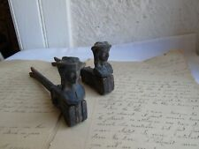 French a pair of vintage shutter stoppers solid authentic hardware