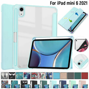 """Leather Smart Cover For iPad Mini 6 2021 8.4"""" Flip Case Folding Stand Shockproof"""