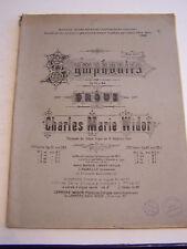 LIVRE ANCIEN , VIEUX PAPIERS , PARTITION ORGUE HARMONIUM , SYMPHONIES V . 1920 .