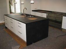 Granitarbeitsplatte Kochinsel Nero Assoluto satiniert  220x90 cm
