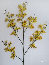 "1x 37"" Yellow CYMBIDIUM ORCHID, Artificial Silk Flower /C03"