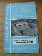 05/11/1966 Manchester City v Newcastle United  (Token Removed, Team Changes)