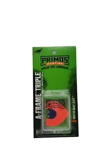 Primos Hunting A-Frame Triple Turkey Mouth Call with Bat Cut 1186