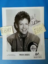 Rick Dees Top 40 Jockey Autographed Weekly Portrait Hand Signed 8 by10 Photo HS