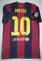 2014-2015 Nike FC Barcelona Lionel Messi Home Jersey Shirt Maglia Kit Argentina