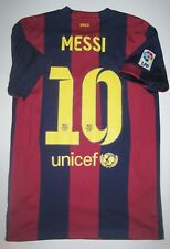 2014-2015 Nike FC Barcelona Lionel Messi Home Jersey Shirt Maglia Kit Argentina