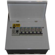 6 Way Metal Consumer Unit Fuse Box 63A 30mA RCD - Choose upto 6 MCB 6 - 63 Amp