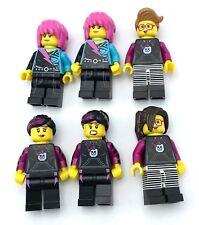 LEGO 6 NEW SKATER GIRL MINIFIGURES PUNK ROCKER GIRLS FIGURES