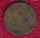 1864 TWO CENT PIECE **COPPER TYPE COIN FROM U.S. CIVIL WAR** FREE SHIPPING!