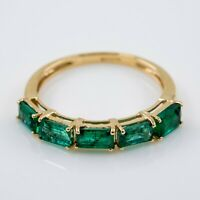 Gold Ring With Emeralds