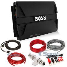 Boss PT2200 2200W 2 Channel Phantom Full Range Class AB Amplifier + 4 AWG Kit