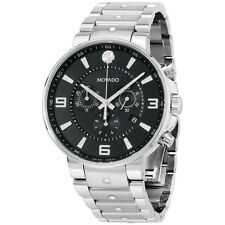 Movado Men's 0606759 SE Pilot Stainless Steel Bracelet Black Chrono Dial Watch
