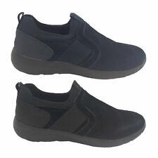 Mens Shoes Woodlands Andrew Slip on Leather Elastic Lightweight New UK Size 6-12
