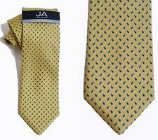 NEW Mens Tie Necktie Yellow Blue Brown Paisley John Ashford A1478