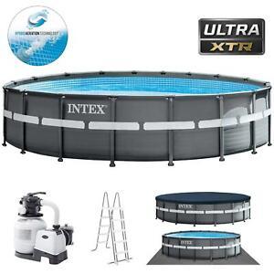 Intex 26330XTR Ultra Frame Pool Set Swimmingpool  Ø549x132cm Sandfilteranlage