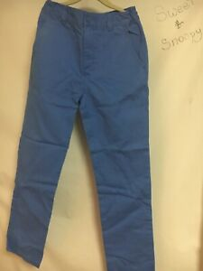 Hanna Andersson Boys Chino Pants Blue Soft & Durable Adjustable Waist 130  8
