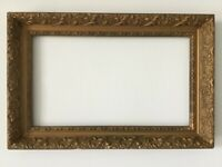 ANTIQUE GREAT QUALITY GILT FRAME FOR PAINTING  19 X 11 inch