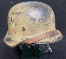 WW2 German M35 DD Luftwaffe Camo Helmet