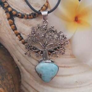 Larimar Goddess Pendant Necklace (E1983)
