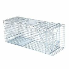 "Raccoon Skunk Poss Humane Animal Trap 32""x12""x12"" ; Cage Rabbit Cat Live Rodent Bt"