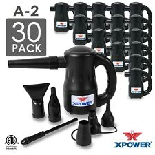 XPOWER  Airrow Pro A-2 Multi Use Computer Air Pump Duster Blower Black 30 Pack