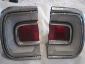 Pair of 1968 barracuda taillights used rough but complete.set