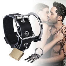 Male Ball Spreader Lock Penis Scrotum CBT Cock Ring Support Enhancer Enhancement