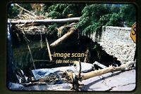 1955 Stroudsburg Pennsylvania Flood Damage & Bridge, Original Slide c12a