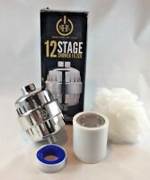 SMART HOME Universal Shower Filter 12-Stage with 2 filter replacements