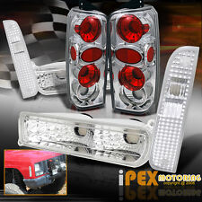 6-Piece Chrome 1997-2001 Jeep Cherokee Corner Light +Bumper Signals+ Tail Lights