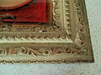 "Antique Ornate Large Picture Frame, 19 1/2 "" X 16 1/2"""