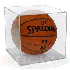 4 BallQube Clear Basketball Holder Display Cases
